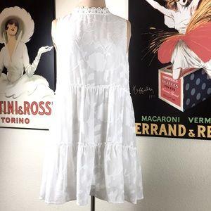 NWOT White Smock Dress, Size Small